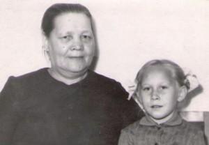 Борисихина М.Е. с внучкой Ириной