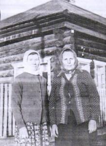 Намятова Агния Прокопьевна с соседкой Матрёной Перфильевной