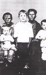 мама,папа, Лида, Валя, Надя