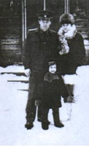 внук Сергей с женой и дочкой