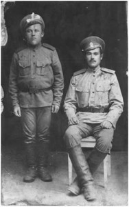 На фото слева: Кондрашин Иван Назарович, 1893г.р. – брат Игнатия Назаровича, фото1914-1916гг.